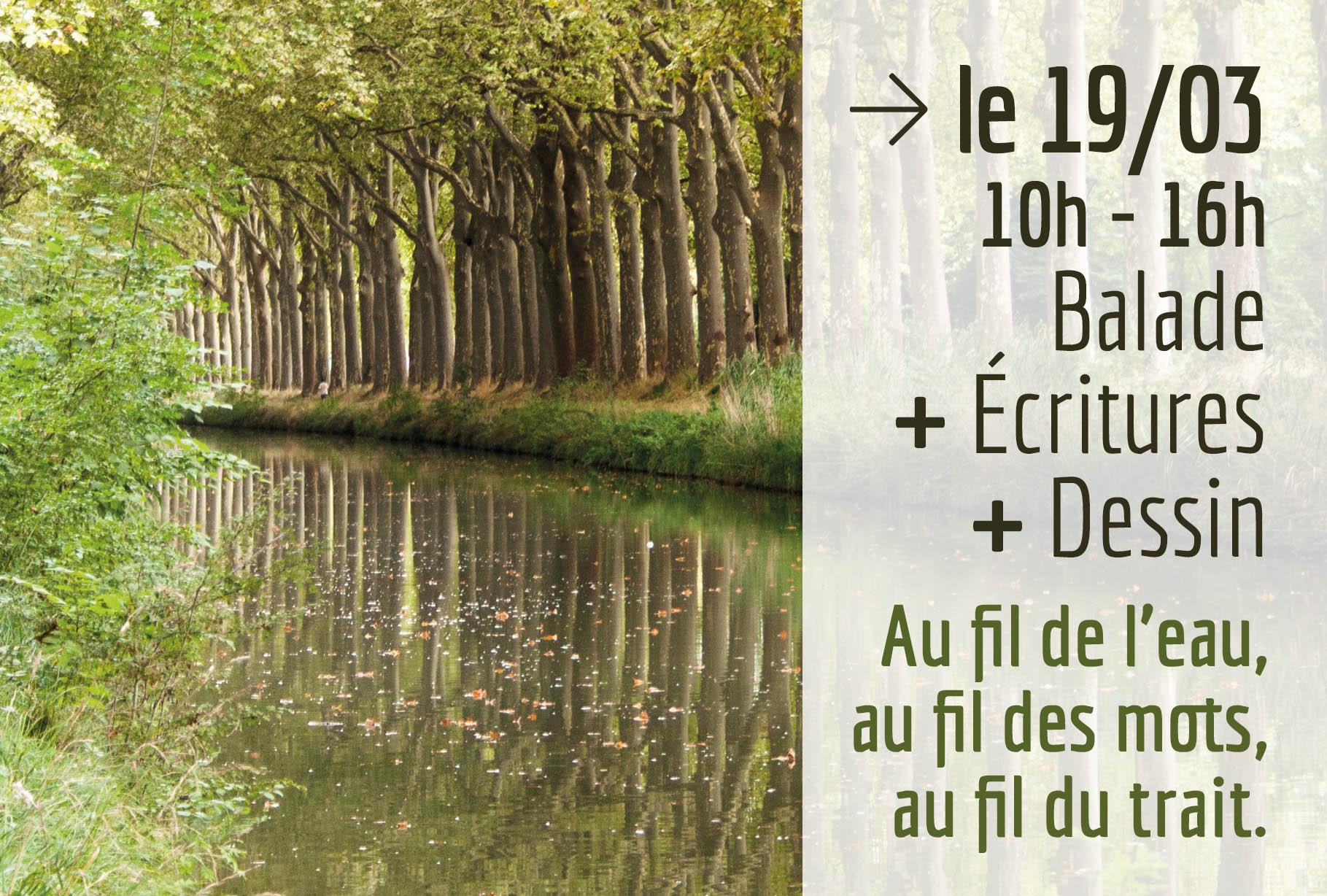 Au fil de l'eau 19 mars 2020 - 2 Balades en Ballade - Toulouse
