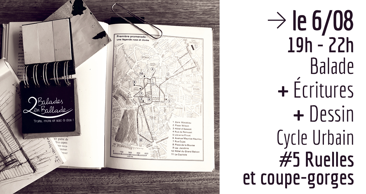cycle urbain - #5 Ruelles et coupe-gorges - 2 balades en ballade - Toulouse