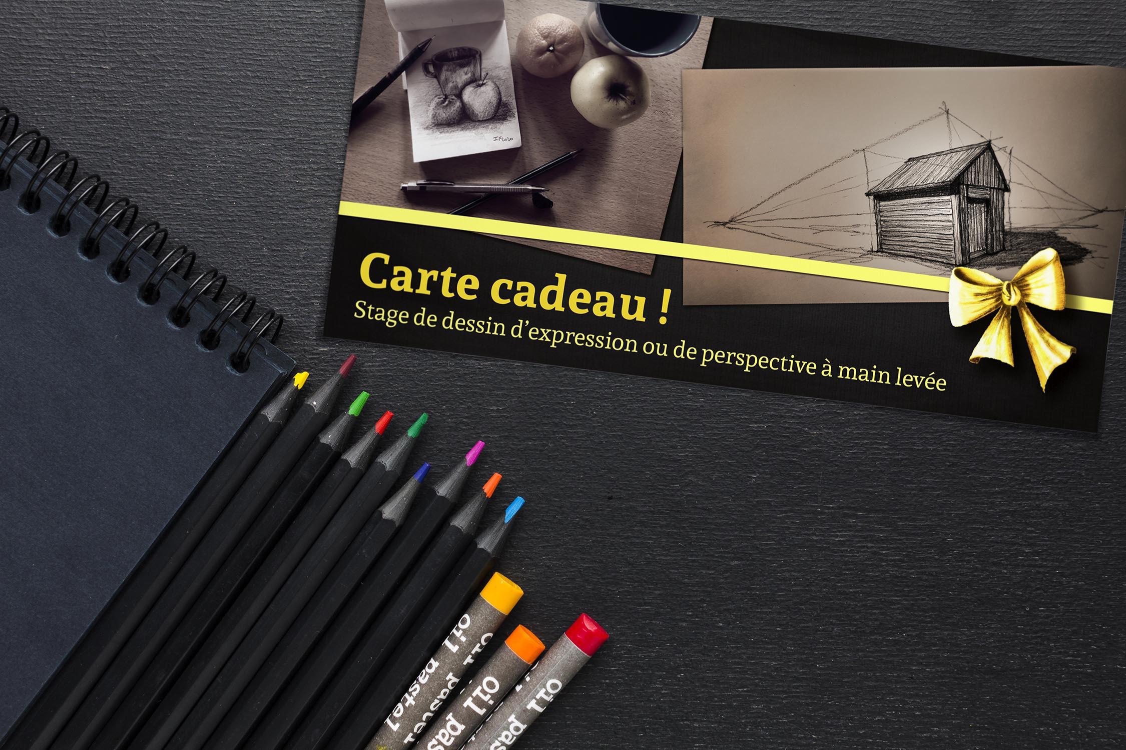 Carte cadeau pour un stage individuel de dessin à Toulouse, valable 12 mois