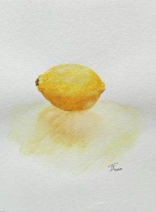 Read more about the article Etude d'un citron à l'aquarelle