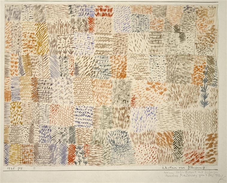 Rythmes d'une plantation - Paul Klee